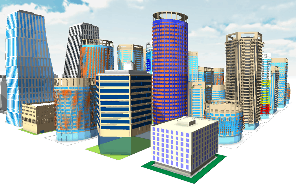 CityEngine 'geo-typical' model library for Abu Dhabi's Urban Planning Councilspatial data.