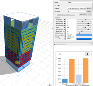 Create 3D visualisation with dynamic reporting functions