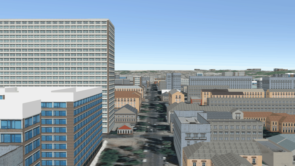 Custom geo-typical procedural Esri CityEngine content for large 3D urban modelling hosted on the web or in a game/simulation engine